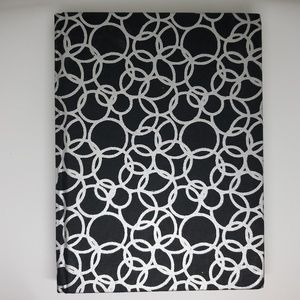 """Recycled Cotton Journal in Black/Silver-6""""x8"""""""